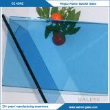 feuille en verre bleue/rouge de 3-12mm teintés avec différentes tailles