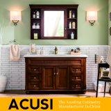 Het hete Verkopende Meubilair van de Badkamers van het Kabinet van de Badkamers van de Ijdelheid van de Badkamers van de Stijl van de Goede Kwaliteit Eenvoudige Stevige Houten (ACS1-W16)