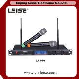Microfone do rádio da freqüência ultraelevada das canaletas duplas Ls-989