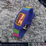 Orologio variopinto di Digitahi del braccialetto di vigilanze del silicone LED (DC-2149)