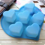 Molde azul dos queques do silicone da forma do querido com 25*20*3.8cm