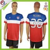 زيّ فصل خريف بالغ كرة قدم جرسيّ يجعل في الصين رجل كرة قدم قميص وأعالي كرة قدم كرة قدم جرسيّ