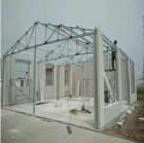 Casa modular del Social de la casa de la familia de la estructura del marco de acero