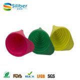 Funil/funil dobráveis flexíveis coloridos do silicone para a venda