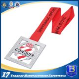 Medaglia d'argento del premio su ordinazione di alta qualità con i nastri
