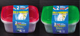 El plástico rectangular quita el envase de alimento de Microwavable 64oz