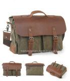 Qualität sichergestellte Segeltuch-Unisexweinlese-Handtaschen-Mann-/Laptop-Kurier-Schulter-Beutel-Männer für Erwachsen-Alltagsleben-Beutel