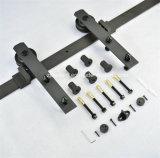 Деревянное оборудование раздвижной двери черноты двери (LS-SDU-07)