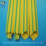 2: 1 gelber Shrink Tubings Kennsatz der grünen Farbe Wärme