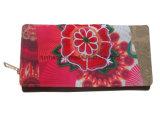 Муфта вышивки ткани холстины бумажника женщин типа Boho Trifold