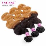 卸し売りペルーの人間の毛髪のOmbre Remyの毛のよこ糸