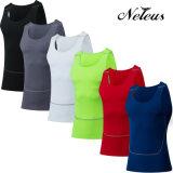 Dt0004 Neleusの男性圧縮のワイシャツのスポーツの上の適性の摩耗の衣服