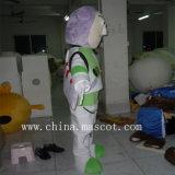 Caráter adorável do traje da mascote do robô irrisório