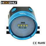 Gli indicatori luminosi di immersione subacquea della scatola metallica LED di Hoozhu Hv33 con 4000 lumen impermeabilizzano 120m per il video di immersione subacquea