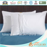 Cassa pura bianca del cuscino del cotone della protezione all'ingrosso del cuscino