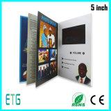 Folheto novo da tela da chegada HD LCD, livro, vídeo na cópia