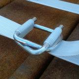 hebillas galvanizadas 32m m del alambre para atar con correa
