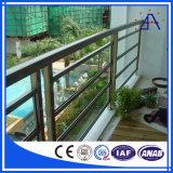 保証10年ののさまざまな様式の木製の穀物のアルミニウム塀