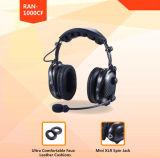 実質カーボンファイバーの耳シェルが付いているAnti-Noiseコミュニケーションヘッドセット2017new