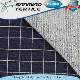L'indaco ha controllato il tessuto del denim del Knit dello Spandex per vedere se ci sono indumenti