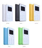 toetsenbord van Qwerty van de Telefoon van de Kaart van 4.8mm het Uiterst dunne X6 Mobiele de MiniTelefoon van de Kaart van de Zak