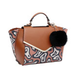 Trapeze Abstract Pattern Front Flap Women Tote Bag (MBNO042035)