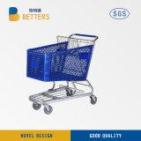 Beste verkaufenplastikeinkaufen-Laufkatze-Karre des supermarkt-200L mit Stuhl und Rädern