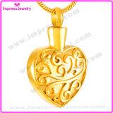 Le coeur Ijd8055 incinère le support pendant de mémoire de collier de souvenir d'urne d'incinération commémorative d'acier inoxydable