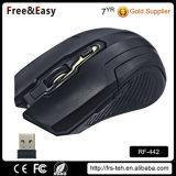 Tasti programmabili del mouse senza fili ottico 2.4GHz dei tasti dell'OEM 6