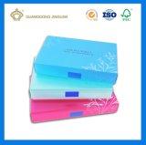 Rectángulo de empaquetado de papel cosmético de lujo con la impresión de encargo (bandeja interna del PVC del blanco)