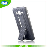 Caso magro da tampa do telefone de Kickstand da armadura híbrida para Samsung J3 Prime/J3 2017