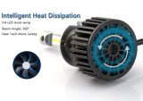 Bulbos de la linterna del reemplazo de los accesorios autos H4 LED con diseño del ventilador