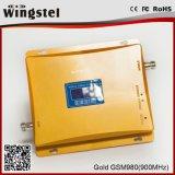 Repetidor móvil de la señal del alto del aumento del G/M 900MHz 2g 3G color del oro