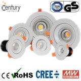 2.5-Inch 7W vertiefte LED beleuchten unten mit das 70mm Loch-Größe