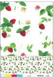 野菜およびフルーツデザインの多彩なPVCによって印刷されるテーブルクロス