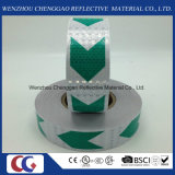 結晶格子が付いている緑および白い矢PVC反射テープ