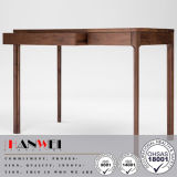 Fsc Cert nogal americano 2drawer Escritorio de madera Mesa de muebles de la sala de estar
