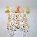 Stock d'usine en gros 27,5 cm de largeur broderie Polyester Découpe Décoration en dentelle florale en dentelle de fleur pour accessoires couture et textiles et rideaux à la maison