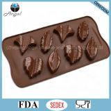Дешевый инструмент Si32 выпечки шоколада силикона листьев вала 8-Cavity