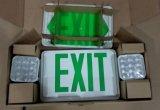 Luz Emergency, UL combinada, muestra de la salida, muestra del LED, luz de la salida, salida de emergencia