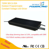 720W 36V 0~20A im Freien programmierbarer konstanter Spannung Dimmable LED Fahrer