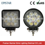 승인되는 E-MARK를 가진 최신 판매 4inch 27W 사각 또는 둥근 LED 일 빛