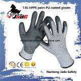 安全手袋、13G Hppeの安全によって切られる抵抗力がある手袋のレベルの等級3および5