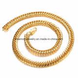 민감한 특별한 단추 구리 도금 18k 금 도금된 구리 사슬 목걸이