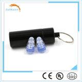 Штепсельные вилки уха силикона безопасности черные с фильтром