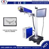 Máquina del laser de la marca de la mosca con la velocidad para la marca en línea