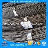 6.25mm de Spiraalvormige Draad van het Staal van PC van Ribben voor Cement Polen