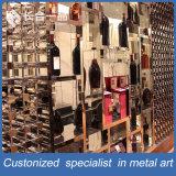 セラーのためのハイエンドカスタマイズされたステンレス鋼のローズの金のヘアラインワインラック