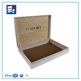 Papel de alta calidad caja de regalo con la cinta de seda y pelusa