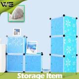 DIY البلاستيك خزانة خزانة الاطفال صندوق تخزين قابل للتعديل